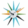 Retro Sunburst Wall Clock