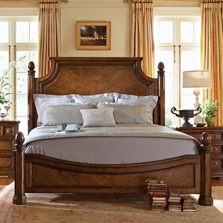 Reverie Panel Bed in Heirloom Cherry