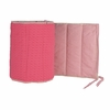 Reversible Blush Organic Crib Bumper