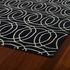 Revolution Circles Rug in Black
