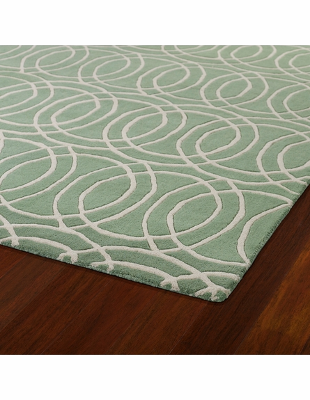 Revolution Circles Rug in Mint