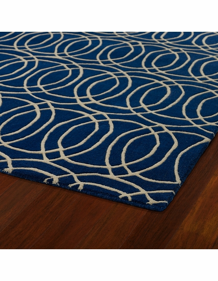 Revolution Circles Rug in Navy
