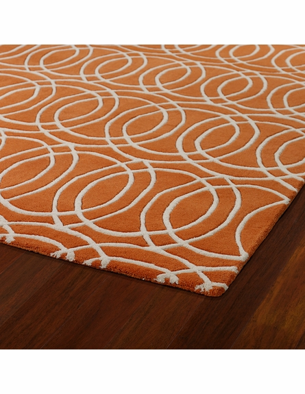 Revolution Circles Rug in Orange