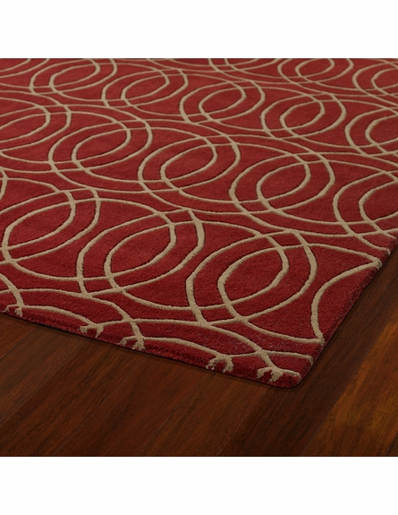 Revolution Circles Rug in Red
