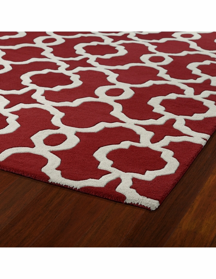 Revolution Lattice Rug in Red