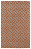 Revolution Maze Rug in Grey and Orange