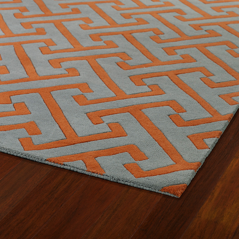 Revolution Maze Rug In Grey And Orange Rosenberryrooms Com