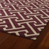 Revolution Maze Rug in Plum