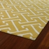 Revolution Maze Rug in Yellow