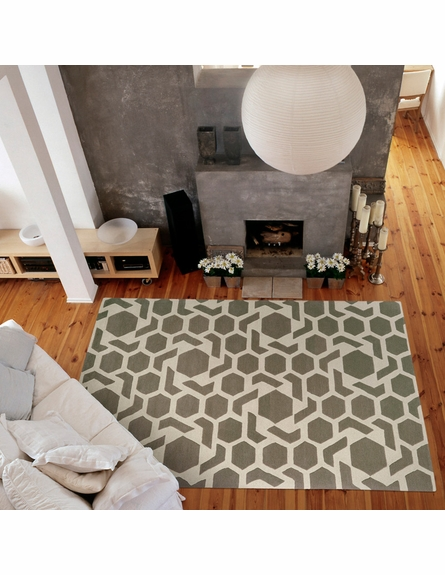 Revolution Stars Rug in Grey