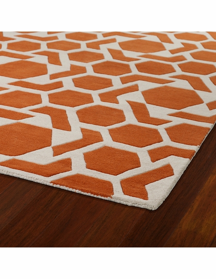 Revolution Stars Rug in Orange