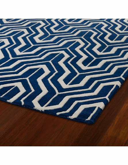 Revolution Tribal Chevron Rug in Navy