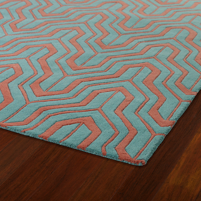 Revolution Tribal Chevron Rug In Pink And Teal