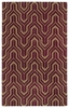 Revolution Tribal Chevron Rug in Plum