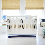 Rhapsody in Blue Crib Bedding Set