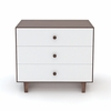 Rhea 3 Drawer Dresser in Walnut and White