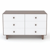 Rhea 6 Drawer Dresser in Walnut and White