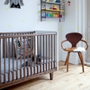 Rhea Convertible Crib in Walnut and White
