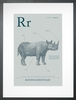 Rhino in Blue Grey Art Print