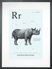 Rhino in Light Blue Art Print