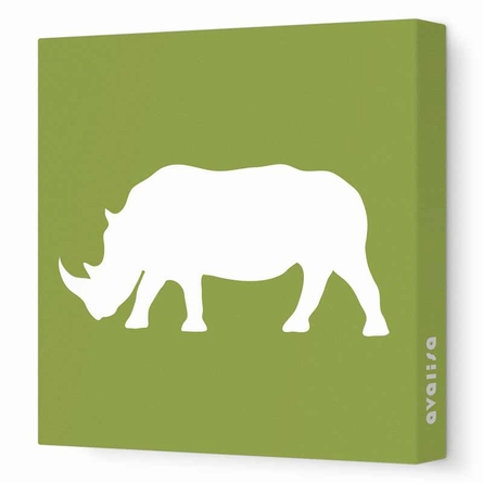 Rhino Silhouette Canvas Wall Art