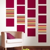Ribbon Candy Blox Wall Decals - Red