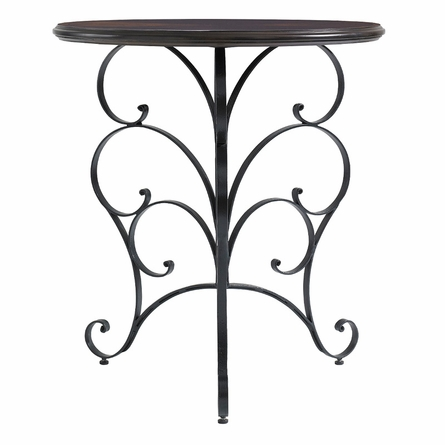 Ribbon Scroll End Table