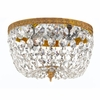Richmond Two Light Clear Crystal Brass Flush Mount