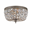 Richmond Two Light Clear Crystal Bronze Flush Mount