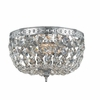 Richmond Two Light Clear Crystal Chrome Flush Mount II