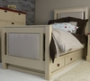 Ricki Bed with Upholstered Panels