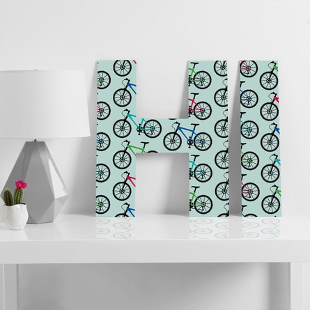 Ride A Bike Aqua Decorative Letters