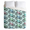 Ride A Bike Aqua Duvet Cover