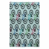 Ride A Bike Aqua Flat Weave Rug