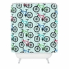 Ride A Bike Aqua Shower Curtain