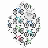 Ride A Bike White Baroque Magnet Board