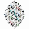 Ride A Bike White Baroque Wall Clock