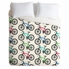 Ride A Bike White Lightweight Duvet Cover