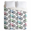 Ride A Bike White Duvet Cover
