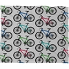 Ride A Bike White Fleece Throw Blanket