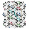 Ride A Bike White Quatrefoil Wall Clock