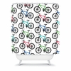 Ride A Bike White Shower Curtain