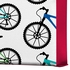 Ride A Bike White Wrapped Canvas Art