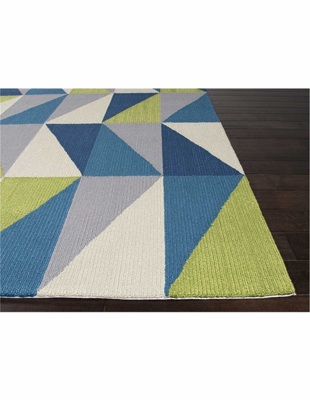 Right Angle Rug in Blue