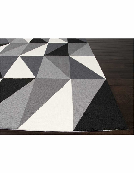 Right Angle Rug in Gray
