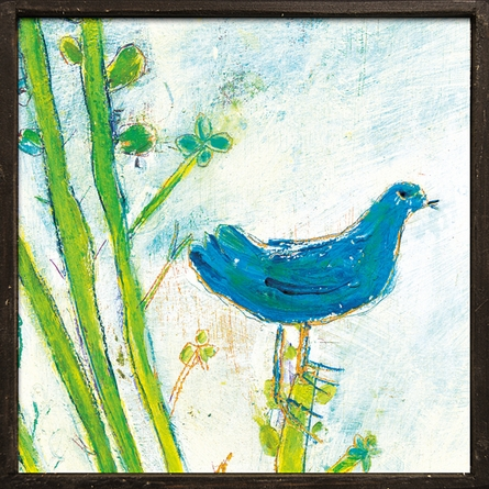 Right Bird Vintage Framed Little Art Print