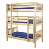 Riley Slatted Medium Triple Bunk Bed