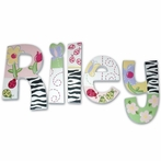 Riley Zebra Print Hand Painted Wall Letters