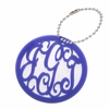 Rimmed Circle Acrylic Monogram Bag Tag