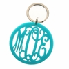 Rimmed Circle Acrylic Monogram Key Chain